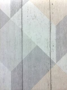 Heavy weight vinyl wallpaper with geometric print on a rustic wood grain background, fully washable and suitable for all rooms including kitchens & bathroom UN3201