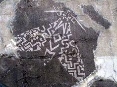 reverse graffiti - the medium is.the clean wall underneath the grime. Reverse Graffiti, Cleaning Walls, Art Party, Urban Art, Abandoned, Jet, Artworks, Art Ideas, Street Art