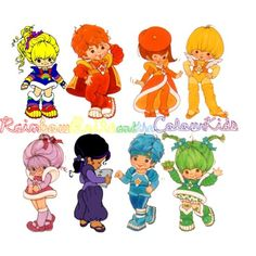 Rainbow brite illustration  | Rainbow Brite and the Colour Kids - Polyvore