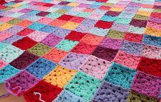 Solid Granny Square Blanket 21.10.2012