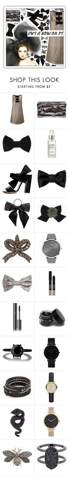 """Put a bow on it!"" by beanpod ❤ liked on Polyvore featuring Miss Selfridge, Kate Spade, Forever 21, SkinCare, Delpozo, Puma, L. Erickson, Gucci, BOSS Black and Missha"
