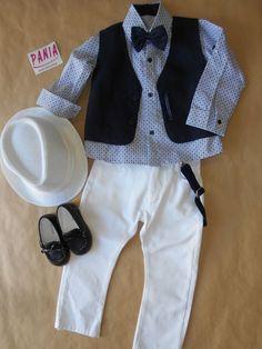 Βαπτιστικό ντύσιμο για αγόρι Toddler Vest, Baptism Outfit, Sewing For Kids, Lovely Things, Boy Outfits, Nails, Boys, Clothes, Kids Fashion