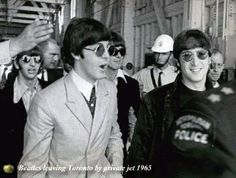 17th August 1966. The Beatles arrive in Toronto.
