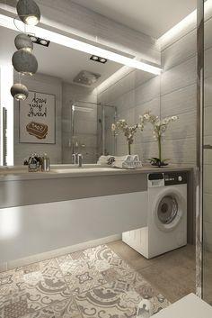 42 Small Bathroom That Will Make Your Home Look Fabulous - Home Decor & Interior Design Modern Bathroom Design, Home Interior Design, Bathroom Layout, Bathroom Decor, Bathroom Design Luxury, Luxury Bathroom, Laundry In Bathroom, Small Cozy Apartment, Bathroom Interior Design