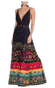 Vestido longo Lucinda - preto