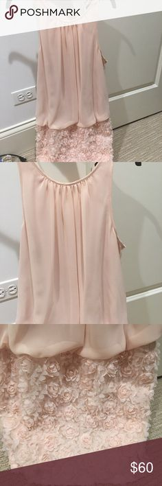 Aqua light pink dress size 4 Worn once!!! beautiful dress. No stains, marks or signs of wear. Aqua Dresses