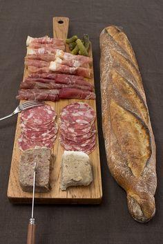 Spread on J.K. Adams Cutting Board. #charcuterie #meat #horsdourves