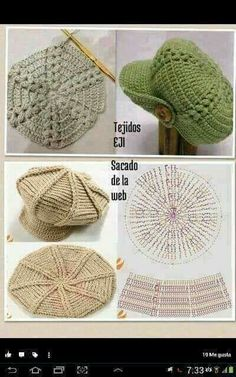 CROCHET PATTERN No. The Abby crochet beret pattern (Toddler, Child and Adult sizes) PDF pattern hat, spring beret pattern, pattern hat Crochet Beret Pattern, Bonnet Crochet, Crochet Beanie Hat, Knitted Hats, Knitting Patterns, Crochet Patterns, Crochet Hats, Slouchy Beanie, Diy Crafts Crochet