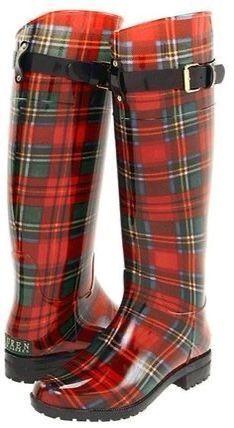 Mode Tartan, Tartan Plaid, Tartan Shoes, Black Plaid, Stylish Rain Boots, Cool Boots, Warm Boots, Wellies Rain Boots, Ugg Boots