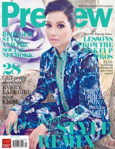 Kris Aquino by Bj Pascual on the cover of Preview Magazine's Special Beauty Issue (May 2012)