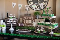 Tommys Football Birthday Party :: The TomKat Studio - Football Table - Ideas of Football Table Super Bowl Party, Football Birthday, Boy Birthday, Birthday Nails, Happy Birthday, Football Themes, Nfl Football, Football Parties, Football Shirts