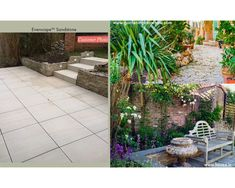 How To Create A Stylish Garden With Outdoor Tiles | Topps Tiles Outdoor Tiles, Outdoor Decor, Outside Flooring, Garden Tiles, Topps Tiles, Hanging Plants, Lush, Greenery, Vines