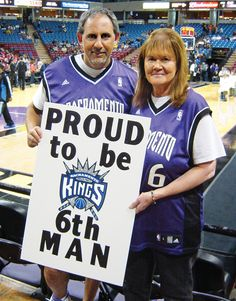 The famous Sign Lady (and Sign Man) of the the Sacramento Kings.