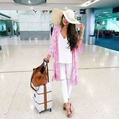 Preppy travel outfit