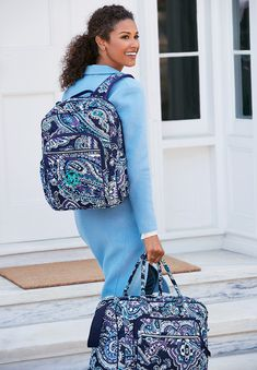 Iconic Campus Backpack in Deep Night Paisley and Iconic Weekender Travel Bag in Deep Night Paisley Killstar Clothing, School Backpacks, Vera Bradley Backpack, Weekender, Travel Bag, Paisley, Addiction, Deep, Night