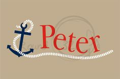 Personalized Name With Anchor Nautical Wall by TheNauticalShop, $45.00