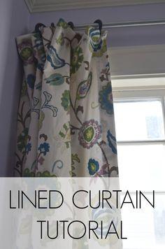 DIY lined curtain tutorial