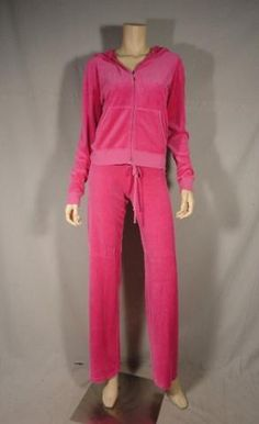 Desperate Housewives These are Gabrielle Solis' screen worn wardrobe items. Season: One Episode Title: 121 Items: Zip Front Hooded Sweatshirt & Matching Draw-String Sweat PantsWardrobe Details SWEATER Brand: Juicy Couture Size: Large Material: Cotton & Polyester Color: Hot Pink Condition: Good Condition w/ Tag Attached SWEATPANTS Brand: Juicy Couture Size: Petite Material: Polyester & Cotton Color: Hot Pink Condition: Good w/ Tag Attached
