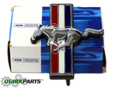 2011-2012 Ford Mustang Radiator Grille Red White Blue Chrome Pony Emblem OEM NEW - Ford (BR3Z-8A224-A)