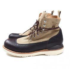 Khaki and Black Water Boot, by visvim, Mens Fall Winter Fashion.