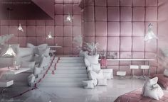 """""""Sypialnia"""" restaurant (which in Polish means """"""""bedroom"""") is the first project of the """"Pastel Collection"""", entirely designed by Karina Wiciak of Wamhouse studio"""