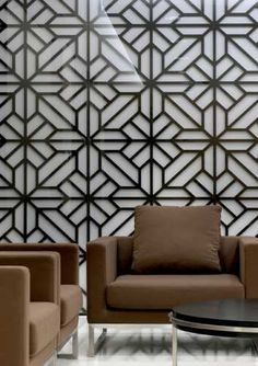 mimic the pattern on the patio for the dining room wall - in dark indigo