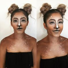 Pin for Later: Deer Makeup Halloween Costume Ideas You'll Want to Fawn Over Face paint + body paint