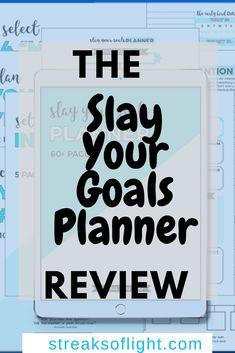 Best Goal Setting Planner To Start Slaying Your Goals- A Review of The Slay Your Goals Planner | Streaks of Light Organization Bullet Journal, Planner Organization, Self Development, Personal Development, Goals Planner, 2018 Planner, Goal Board, Parenting Fail, Best Planners