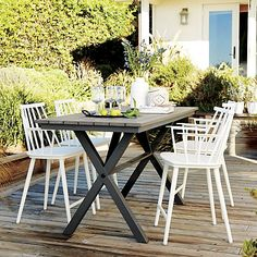 """Union 72"""" Trestle High Dining Table in Outdoor Dining Tables 