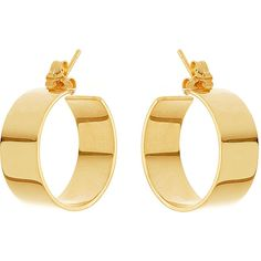 Lana Small Vanity 14K Hoop Earrings ($930) ❤ liked on Polyvore featuring jewelry, earrings, gold, jewelry earrings hoop, lana earrings, gold jewellery, gold earrings, yellow gold jewelry and 14 karat gold jewelry