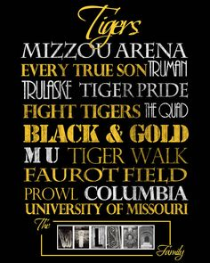 Mizzou Tigers Print by SportingStandouts on Etsy