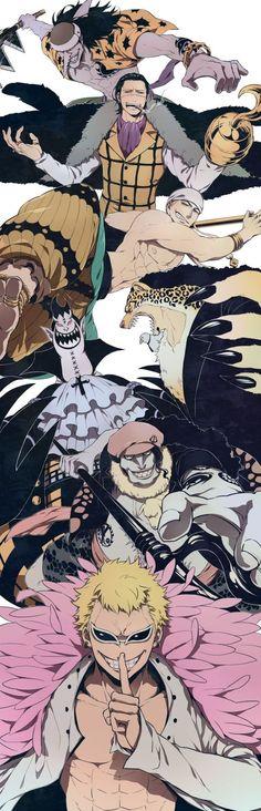 Opponents Luffy has defeat! Arlong, Crocodile, Enel, Rob Lucci, Gecko Moria, Hordy Jones & Donquixote Doflamingo.