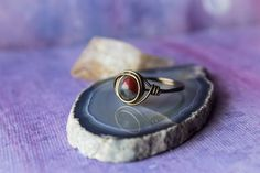 Bloodstone Wire Wrapped Ring Wire Wrapped Antiqued by wildkrystals