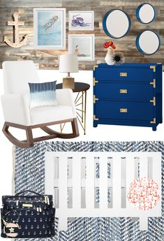 New Nautical Nursery Design Board - Project Nursery