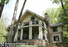 Plan 92309MX: Retreat with Full Wraparound Porch   Mountain house ...