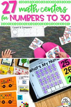If you use math centers for kindergarten, you need to find kindergarten math games that are both fun and engaging. These 27 math centers for numbers to 30 help students compose and decompose numbers, and with number recognition.