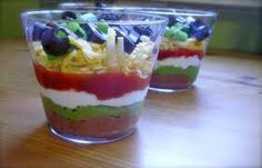 Individual 7 Layer Bean Dip!!! Why didn't I think of that?
