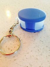 Tupperware Key Chain Blue Oriental Spice Container Collectible New Keychain