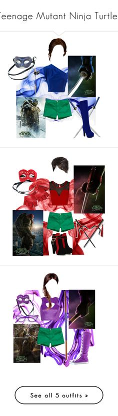 Teenage Mutant Ninja Turtles by melissa-f on Polyvore featuring polyvore мода style Abercrombie & Fitch Masquerade Ryu Le Mos fashion clothing River Island Miss Selfridge Forever New Alice + Olivia Christian Louboutin Michael Antonio Giuseppe Zanotti Ray-Ban Casadei