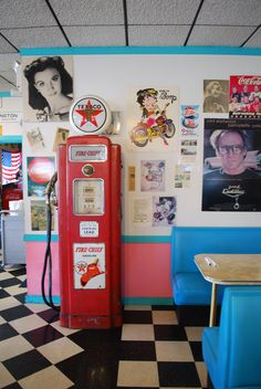 in the diner. All of American pop culture in one room.