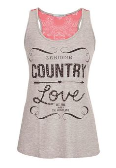 graphic tank with chiffon back (original price, $26) available at #Maurices