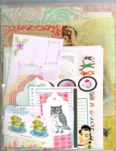 Snail Mail Kit, pen pal starter set, over 100 pieces. Stationery, stickers, envelopes, cards, writing paper, pretty planner variety pack #OPERATIONSNAILMAIL