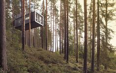 "Best New Hotel: Treehotel, Sweden. Rooms include a flying saucer, mirrored cube, bird's nest, ""the Blue Cone"" and a futuristic cabin. (Click through to see full list of Outside Magazine's 2012 Travel Awards.)"