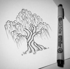 Simple and easy drawings easy pen drawing trees drawing simple easy nature drawings simple landscape drawing . simple and easy drawings Easy Pen Drawing, Easy Pencil Drawings, Tree Drawing Simple, Drawing Tips, Cool Drawings, Drawing Sketches, Painting & Drawing, Pen Drawings, Sharpie Drawings
