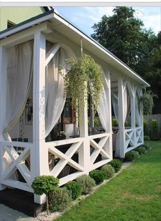 Do you want to have a design gazebo in your garden? We offer perfect gazebo decors for you. the most beautiful arbor of your home garden, pool, you can make your life more beautiful. these gazebos are made of wood and are very healthy. Backyard Patio Designs, Pergola Patio, Cheap Pergola, Pergola Kits, Outdoor Rooms, Outdoor Living, Gazebo Decorations, Gazebos, House With Porch