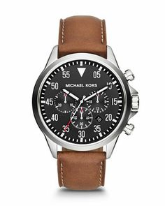 730ee04435d Michael Kors Michael Kors Men  s Oversize Brown Chronograph Watch ... I