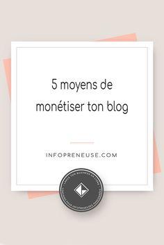 Tu as un blog et tu aimerais le monétiser ? Dans cet article, je te livre 5 moyens de monétiser correctement ton blog. Je suis une adepte de l'astuce n°3 !
