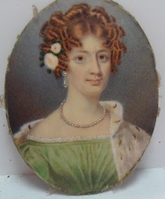 WELL PAINTED REGENCY PORTRAIT MINIATURE PRETTY YOUNG LADY named EMMA ROBINSON