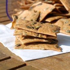 Semolina Wholewheat Pumpkin Seed Crackers