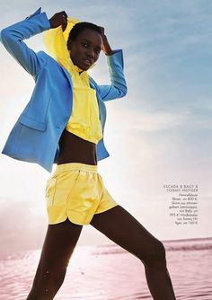 Herieth Paul for ELLE Germany February 2018 edition photographed by Enrique Badulescu